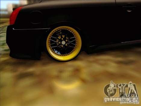 Infiniti G37 HellaFlush для GTA San Andreas вид изнутри