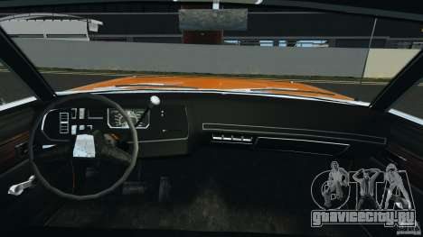 Dodge Dart GTS 1969 для GTA 4 вид сзади