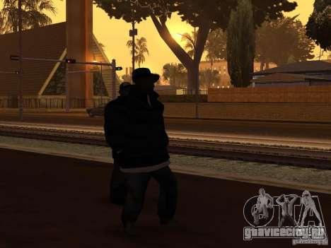 Зимняя одежда для Баллас для GTA San Andreas второй скриншот