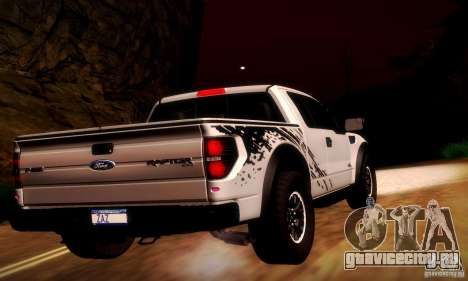 Ford F-150 SVT Raptor V1.0 для GTA San Andreas вид сзади