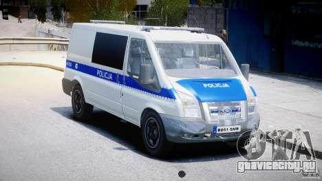 Ford Transit Polish Police [ELS] для GTA 4 вид справа