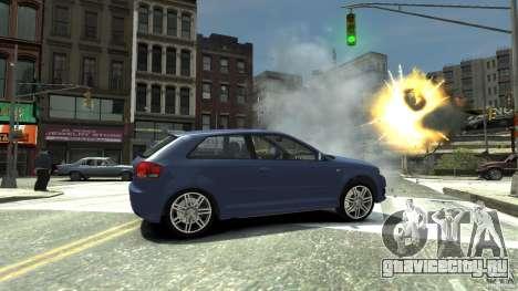 Audi S3 2006 v1.1 не тонированая для GTA 4 вид справа