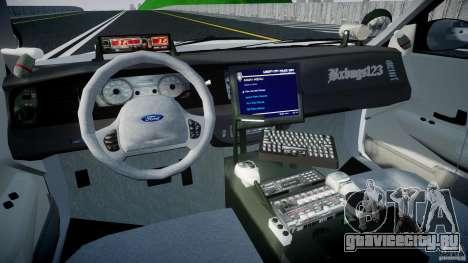 Ford Crown Victoria v2 NYPD [ELS] для GTA 4 вид справа