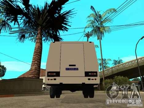 ПАЗ 3205 Милиция для GTA San Andreas вид сзади слева