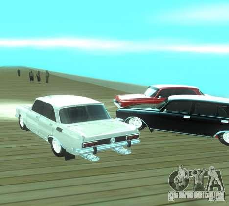 Москвич 2140 Dragster для GTA San Andreas вид изнутри