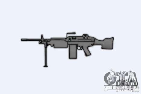 Пулемёт M249SAW для GTA 4 четвёртый скриншот