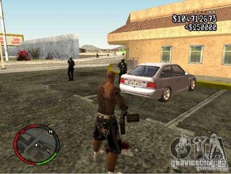 GTA IV HUD v1 by shama123 для GTA San Andreas четвёртый скриншот
