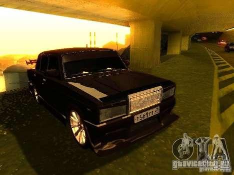 ВАЗ 2107 X-Style для GTA San Andreas вид сзади