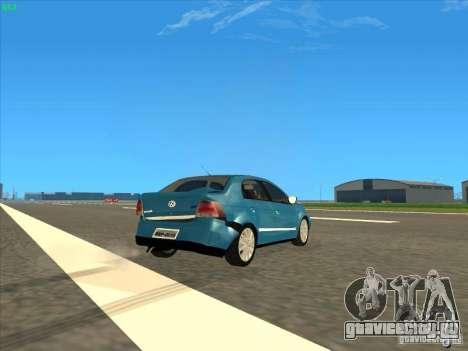 Volkswagen Voyage Comfortline 1.6 2009 для GTA San Andreas вид сбоку