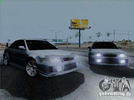 Mitsubishi Lancer Evolution VI для GTA San Andreas вид сзади слева