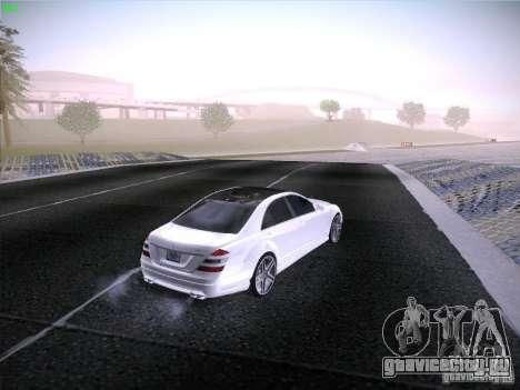 Mercedes-Benz S65 AMG V2.0 для GTA San Andreas вид изнутри