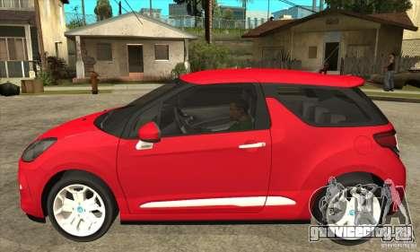 Citroen DS3 2011 для GTA San Andreas вид слева