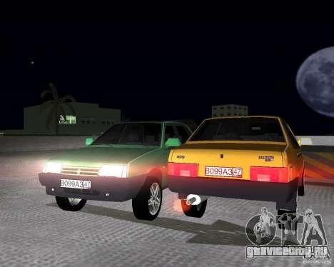 Ваз 21099 Light Tuned для GTA Vice City вид справа