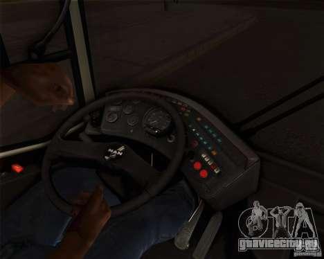 MAN SL202 для GTA San Andreas вид изнутри