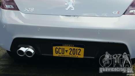 Peugeot 308 GTi 2011 v1.1 для GTA 4