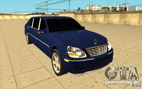 Mercedes-Benz S600 Pullman W220 для GTA San Andreas вид сзади