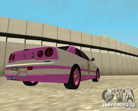 Nissan Skyline R34 Mr.SpaT для GTA San Andreas вид слева