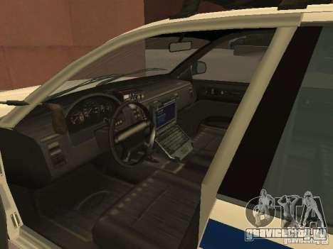 Полиция из гта4 для GTA San Andreas вид изнутри