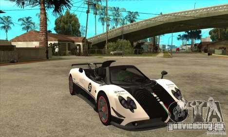 Pagani Zonda Cinque Roadster для GTA San Andreas вид сзади