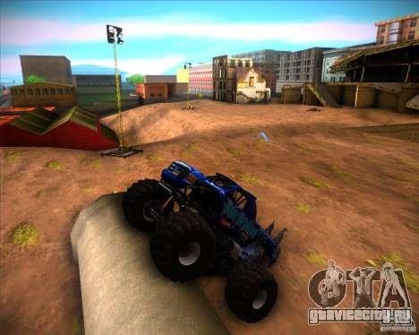 Monster Truck Blue Thunder для GTA San Andreas вид слева