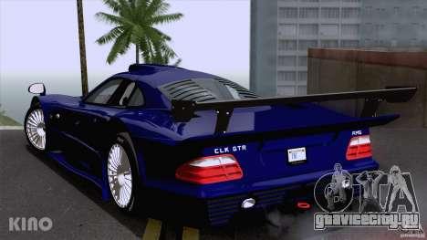 Mercedes-Benz CLK GTR Road Carbon Spoiler для GTA San Andreas вид сзади слева
