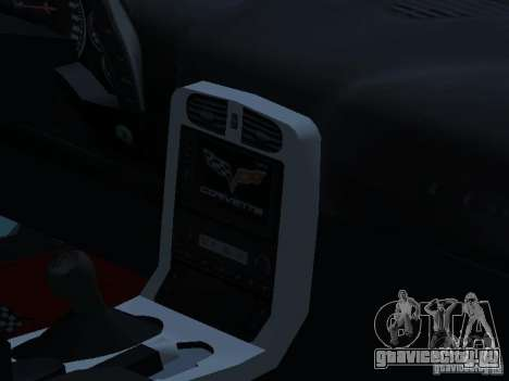 Chevrolet Corvette Stingray для GTA San Andreas вид изнутри