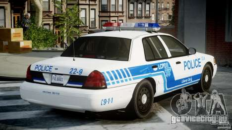 Ford Crown Victoria CVPI-V4.4M [ELS] для GTA 4 вид изнутри
