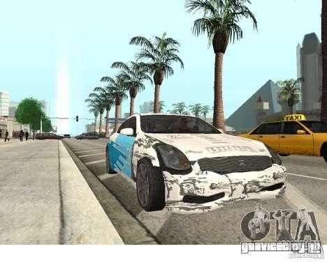 Infiniti G35 Coupe для GTA San Andreas вид справа