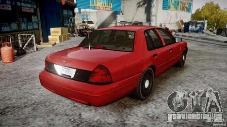 Ford Crown Victoria Detective v4.7 red lights для GTA 4 вид изнутри
