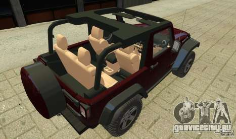 Jeep Wrangler Rubicon 2012 для GTA 4 вид изнутри