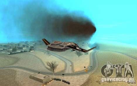 Ястреб air Command & Conquer 3 для GTA San Andreas вид сзади