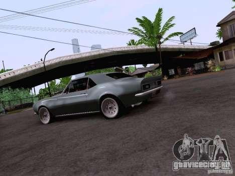 Chevrolet Camaro Z28 для GTA San Andreas вид сзади