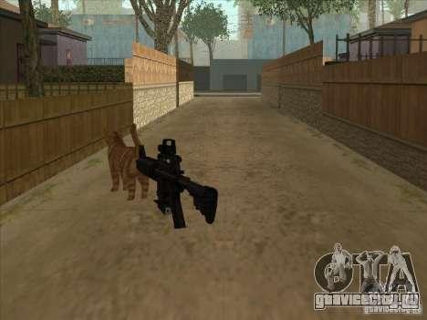 Кот вместо глушителя на M4 для GTA San Andreas второй скриншот