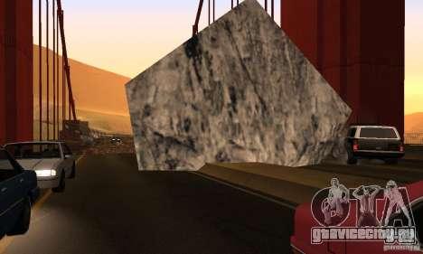 Разрушенный мост в San Fierro для GTA San Andreas шестой скриншот