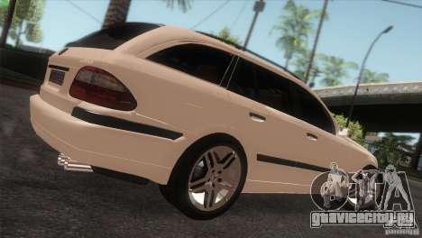 Mercedes-Benz E55 AMG для GTA San Andreas вид сзади слева