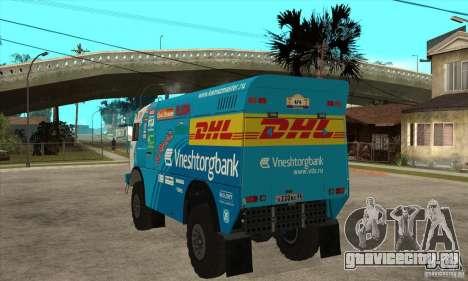 КамАЗ 4911 Rally МАСТЕР для GTA San Andreas вид сзади