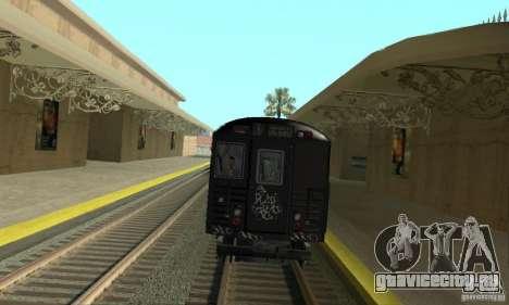 GTA IV Enterable Train для GTA San Andreas вид сзади слева