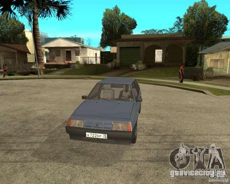 ВАЗ 2108 для GTA San Andreas вид сзади