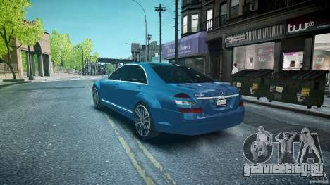 Mercedes Benz w221 s500 v1.0 sl 65 amg wheels для GTA 4 вид сзади слева