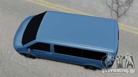 Volkswagen Transporter T5 2010 для GTA 4 вид справа