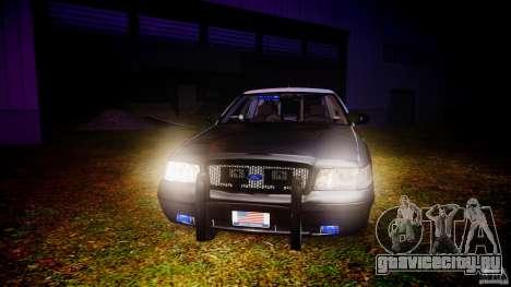 Ford Crown Victoria 2003 Florida CVPI [ELS] для GTA 4 вид сверху