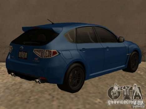 Subaru Imreza WRX для GTA San Andreas вид справа