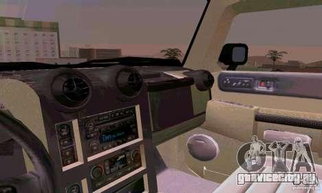 Hummer H2 Ambluance из Трансформеров для GTA San Andreas вид сверху