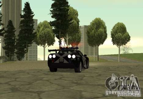 Chevrolet Cross Corvette C6 для GTA San Andreas вид сзади слева