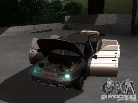 ВАЗ 21114 для GTA San Andreas вид изнутри