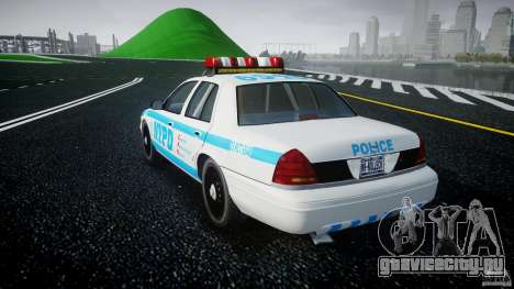 Ford Crown Victoria 2003 v.2 Police для GTA 4 вид сзади слева
