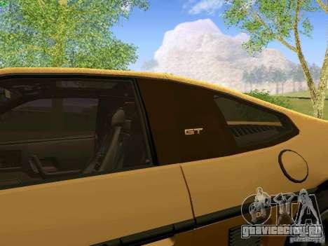 Pontiac Fiero V8 для GTA San Andreas вид сзади
