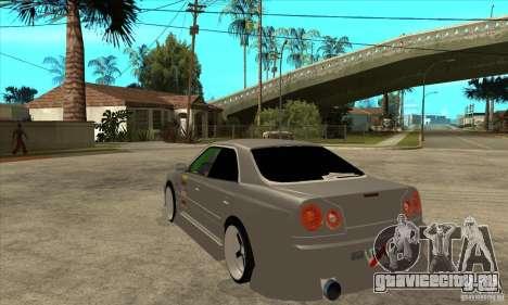 Nissan Skyline Er34 Street Drift для GTA San Andreas вид сзади слева