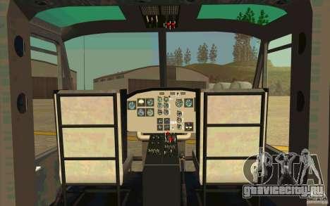 UH-1D Slick для GTA San Andreas вид изнутри