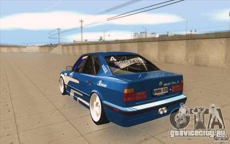 BMW E34 V8 для GTA San Andreas вид сзади слева